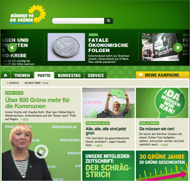 die grunen and the green party essay